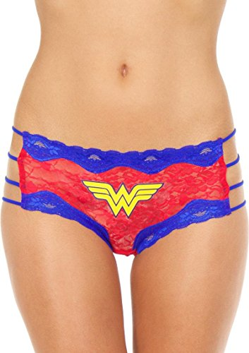 Wonder Woman Lace String Hipster Panty (Large)