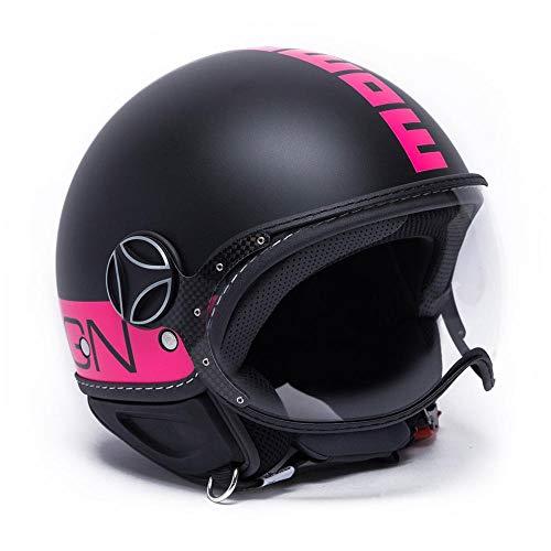 MOMO Design, Casco Black Mate/Fucsia M, Negro Fucsia
