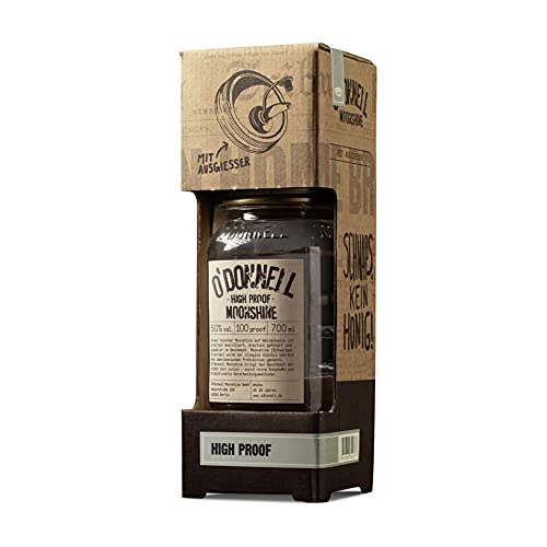 """O'Donnell Moonshine Kombiset """"High Proof"""" (700 ml) I Vegan I Natürliche Zutaten I Premium Schnaps I 50% Vol. Alkohol"""