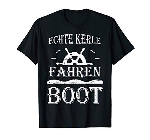 Kapitän Boot Motorboot Schiff Bootfahren Segeln Spruch T-Shirt
