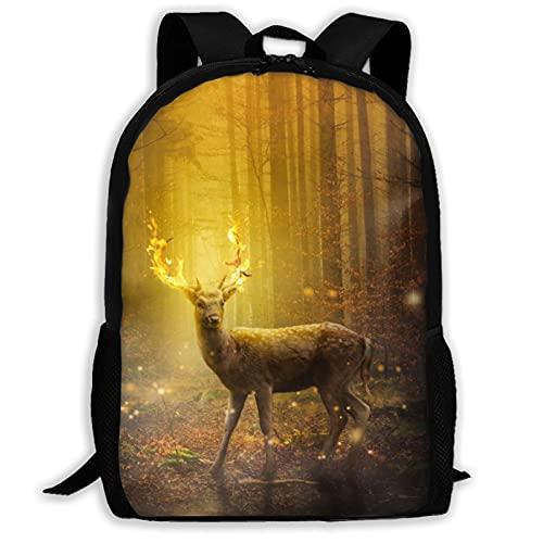 Dear Forest - Mochila de arte digital de viaje para portátil, capacidad ligera, bolsa de papelería para niñas, niños, escuela, mujeres, hombres, oficina