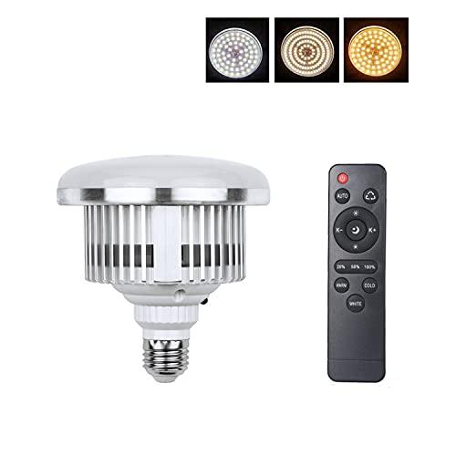 Bombilla LED E27 95W para Softbox Iluminación Estudio Fotográfico Bulbo Bicolor Luz LED Regulable Bajo Consumo para Photo Studio Video Transmisión en Vivo
