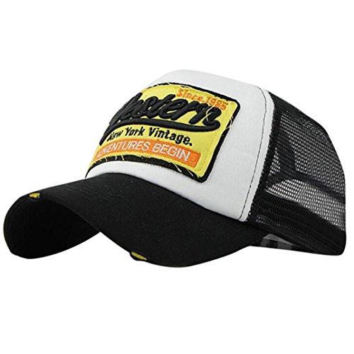 Fulltime® Bonnet d'été brodée Unisexe Casquettes Casual Chapeaux de Baseball Hip hop (Noir)
