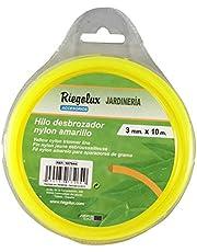 Riegolux 107644 Hilo Desbrozadora Nylon Cuadrada, Amarillo, 3 mm x 10 m