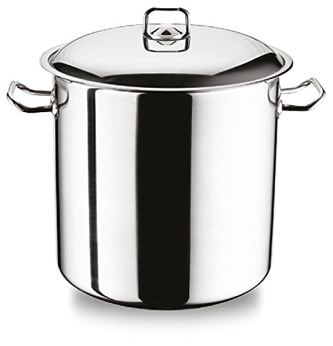 Large Deep Stainless Steel Induction Stock Pot Casserole Cooking Stockpot (21 Litre)
