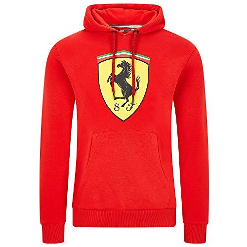 2020 Scuderia Ferrari F1 Herren Jacke Hoodie Gilet Softshell Offizielle Fanwear, Rot Hoodie Sweatshirt, Mens (XL) Chest 112-116cm