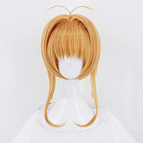 Seupeak 2018 Card Captor Sakura Clear Card Kinomoto Sakura Wig Cosplay Cute Hair Wig Halloween Anime Lolita +Wig Cap