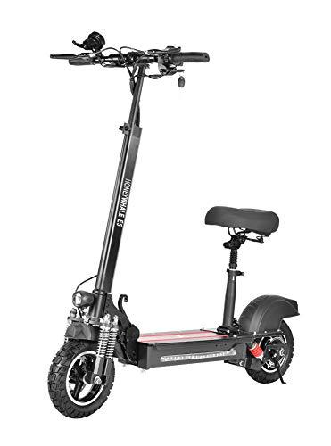Happt E Bike,Elektroroller Klapproller Für Erwachsene Mit 600 W Motor Für Sitzplatte, 10-Zoll-Reifen Mit Intelligentem Instrument, Maximale Ausdauer 40 Km, Maximale Geschwindigkeit 40 Km/H