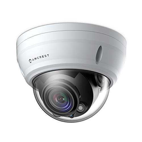 Amcrest UltraHD 4K Varifocal PoE Dome Outdoor Security Camera, 4K (8-Megapixel) 3840x2160P, 164ft Night Vision, 4X Optical Zoom, Motorized Varifocal Lens 58°-110°, White (IP8M-2454EW)