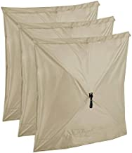 CLAM Quick-Set Wind and Sun Panel Attachment for Traveler, Venture, and Escape Screen Shelter Canopy Tent, Accessory Only, Tan (3 Pack)