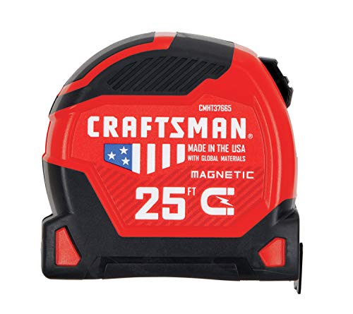 CRAFTSMAN Tape Measure, PROREACH, 25-Foot (CMHT37665S)