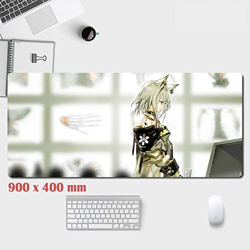 Das Ark-Mauspad von morgen | rutschfest, für Computer, Laptops | erweitertes Mauspad, rutschfeste Gummibasis und wasserdichte Oberfläche, übergroße Tastatur und Mauspad-B_900x400x3mm