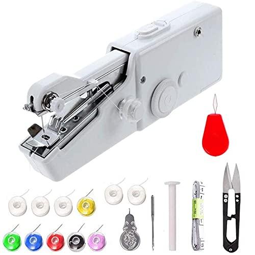 Máquina de coser de la mano, mini máquina de coser portátil inalámbrica mini, mini máquina de coser for ropa for niños, hogar, accesorios de mejoras for el hogar (batería no incluida) ( Color : A )