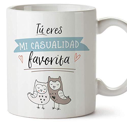 MUGFFINS Taza San Valentín (Te quiero) - Eres mi casualidad favorita