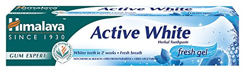 Himalaya Herbals Active White Herbal Toothpaste Fresh Gel Zahnpasta 75 ml