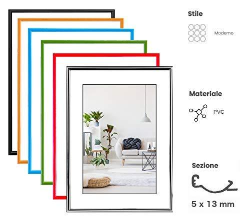 eacommerce Cornice Foto Stampe Portafoto da Parete e da Tavolo Quadro Minimal Hooker PVC Colori Assortiti (Arancio, 30x40 cm)