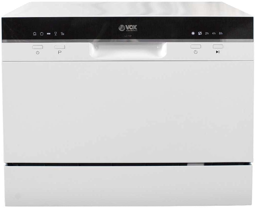 VOX LAVAVAJILLAS SOBRE ENCIMERA 6S F LCT8F (Control digital, 5 programas, color blanco, bajo consumo)