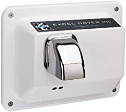 product image for Excel Dryer R76-IW Hand Dryer Hands Off, Automatic, Cast Cover, Recessed, White Epoxy Paint, 110-120V 60Hz