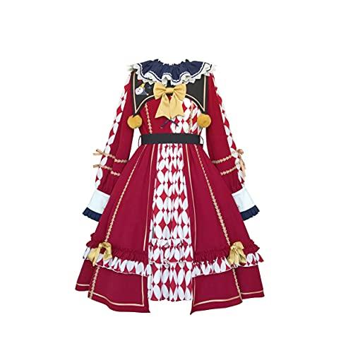 JLCYYSS Otoo e invierno vestido japons de Lolita OP manga de linterna para nias adolescentes suave lindo vestido de lujo, disfraz de Cosplay M Op + corbata + lazo