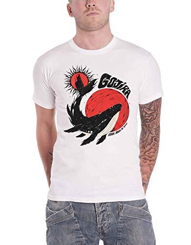 Gojira - Camiseta para hombre, diseño de ballena, color blanco