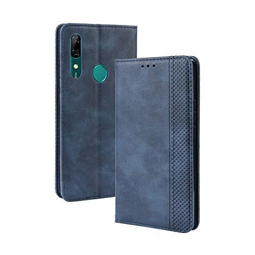 LAGUI Kompatible für Huawei Honor 9X Hülle, Leder Flip Hülle Schutzhülle für Handy mit Kartenfach Stand & Magnet Funktion als Brieftasche, Blau