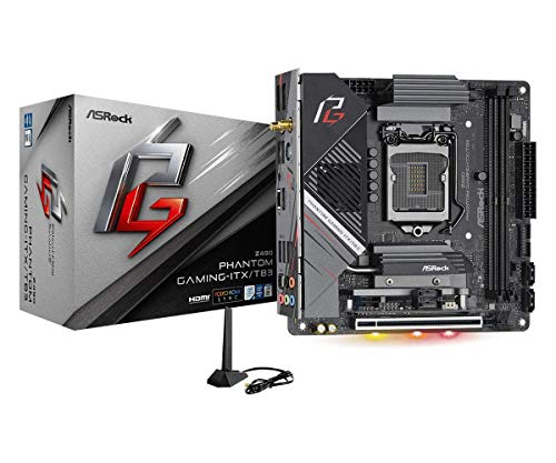 Asrock Z490 Phantom Gaming ITX/TB3 Supports 10 th Gen and Future Generation Intel Core Motherboard Processors (Socket 1200), Model Number: Z490 Phantom Gaming-ITX/TB3