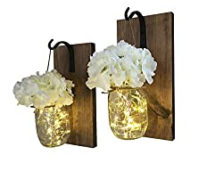 Rustic Hanging Mason Jar Sconces for wall decoration