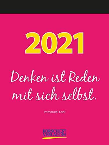 Weisheiten für jeden Tag - Kalender 2021 - Korsch-Verlag - Tagesabreisskalender mit Zitaten - 11,8 cm x 15,8 cm