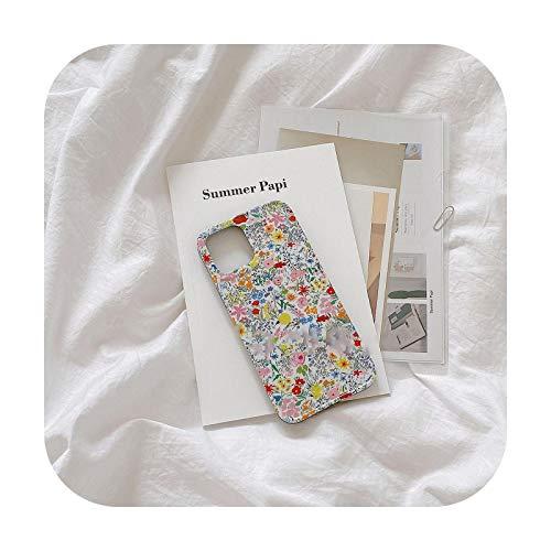 Moda flor patrón teléfono móvil caso para iPhone 12 promax se 2020 11 promax 7 8 8plus x XS XR xsmax iPhone 11 caso-F-8-para iPhone 12mini