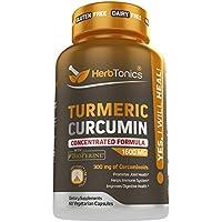 Herbtonics Turmeric Curcumin 1600mg with Bioperine Capsules