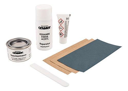 Cramer 66106 5 Reparatur-Set für Keramik,Email und Acryl, manhattan, Manhatten-Grau
