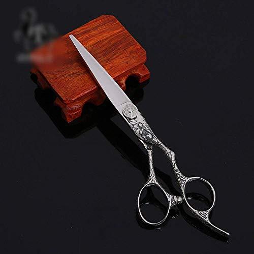 YLLN Ciseaux de Coupe de Cheveux,Ciseaux de Coiffure Professionnel Haut de Gamme de 6 Pouces Ciseaux de Cisaillement Plats (Couleur: Argent)