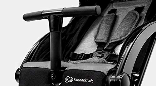 Kinderkraft Pilot light stroller, buggy stroller, child buggy, folding KinderKraft An innovative folding system, with a shoulder strap for easy transport The set contains: Modern barrier, shopping basket under the seat, foot protection, rain cover and cup holder. High quality stored, rubber wheels - all muffled. 11