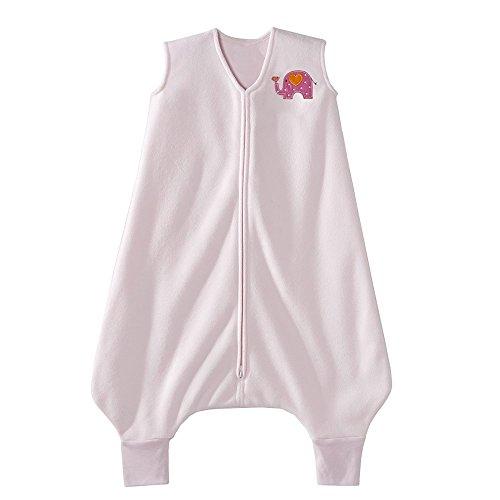 HALO Big Kids Sleepsack Micro Fleece Wearable Blanket, TOG 1.0, Pink, 2T-3T