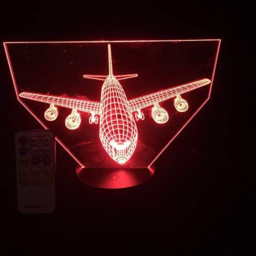 Fantasy aviones 3D luz de noche cargador USB decoración del hogar café fiesta juguete cumpleaños Navidad niños regalo