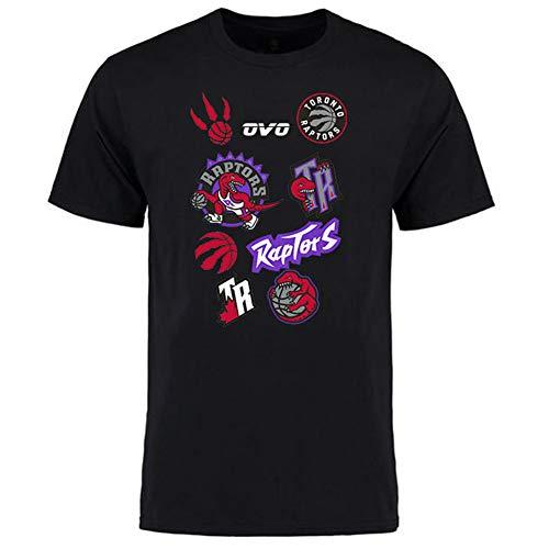 KSITH T-shirt Mannen NBA Raptors Playoff Finals Fans Cheering Korte mouwen Zomer Vrije tijd Sport Katoenen Jersey Zwart