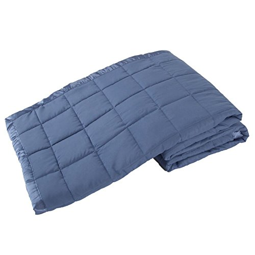 Elite Home Products Down Down Alternative Solid Blankets, Twin, Medium Blue