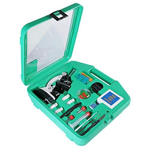 Microscopio para Niños, Ampliación 100x-600x-1200x con Kits De Ciencia El Microscopio para Principiantes Incluye Controles Deslizantes para Estudiantes De 5 Años En Adelante