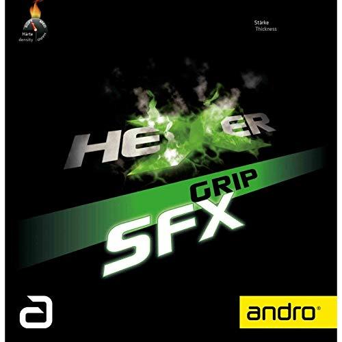ANDRO Belag Hexer Grip SFX Optionen 2,1 mm, schwarz