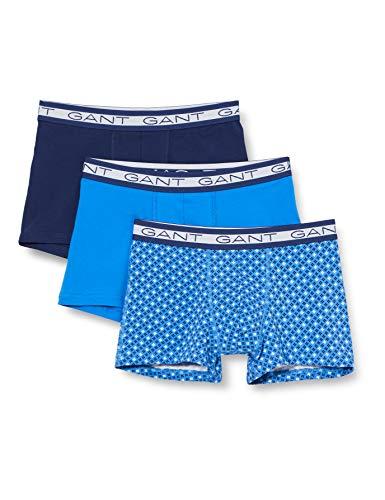 GANT Herren 3-Pack Basic Trunk Mini Star Boxershorts, Strong Blue, XXL