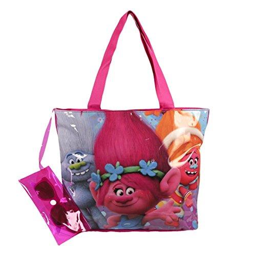Trolls Set summer bag in pvc 36cm + Sunglasses Poppy