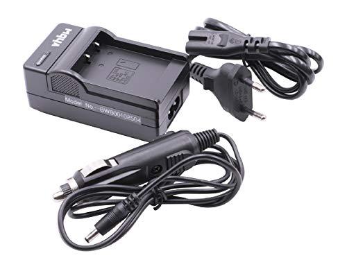 vhbw Ladegerät Ladekabel Netzteil mit Kfz-Lader für Casio Exilim EX-FC300, EX-H30, EX-H35, EX-ZR100, EX-ZR300 wie NP-130.