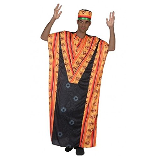 Atosa-38897 Disfraz Africano, Color Negro, M-L (38897)