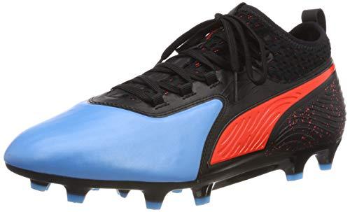 Puma - One 19.2 FG/AG, Zapatillas de Fútbol Hombre, Azul (Bleu Azur-Red Blast-Puma Black 01), 42.5 EU