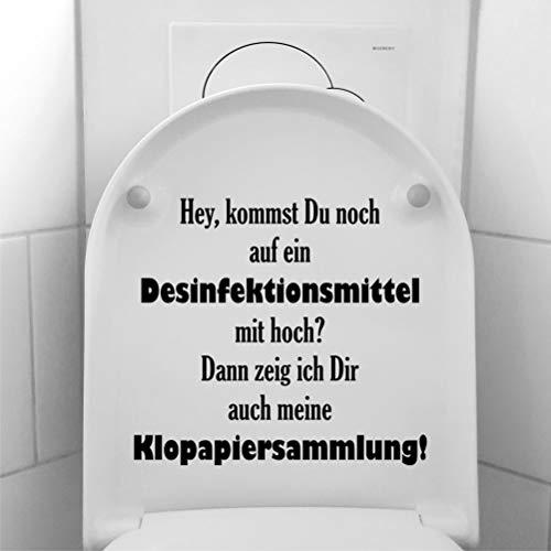 myrockshirt Lustiger Spruch Kommst Du noch auf EIN Desinfektionsmittel mit hoch…? ca 30cm Aufkleber Klo Toilette Sticker Lustig Profi-Qualität ohne Hintergrund Deko