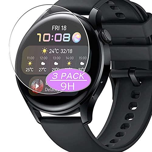 VacFun 3 Piezas Vidrio Templado Protector de Pantalla, compatible con Huawei Watch 3, 9H Cristal Screen Protector Protectora Reloj Inteligente