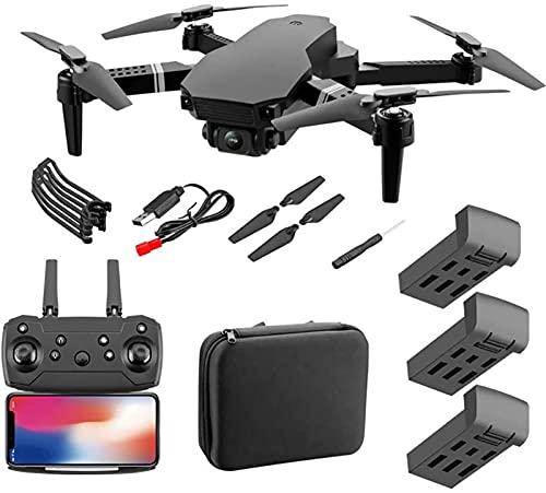 SCYMYBH Drone GPS WiFi 4K HD Cámara de Video en Vivo Drone para Principiantes, altitud Hold, Auto Retorno, Control de Gesto, Sígueme y Modo sin Cabeza (Color : 4K WiFi 3 Battery)