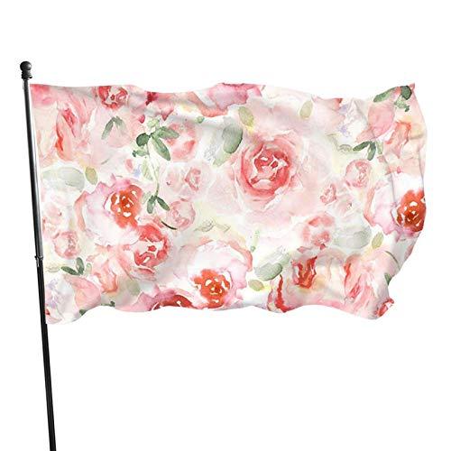 Bandera de jardín, acuarela de color vivo y resistente a los rayos UV, doble costura para patio, bandera de temporada, banderas de pared de 3 x 5 pies