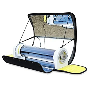 MrMapMax Solar Oven Portable Oven-4.5L Large Capacity Solar Cooker Outdoor Oven Camping Stove with Thermometer For 2-3 People Backpacking Hiking Family Party