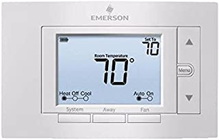 WHITE RODGERS 1F85U-22NP EMERSON 80 SERIES UNIVERSAL NON-PROGRAMMABLE THERMOSTAT, 5 IN. DISPLAY, 2 HEAT / 2 COOL (1 PER CASE)